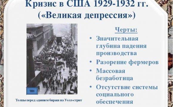 Кризис в США 1929-1932 гг
